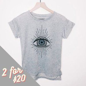 2KUHL Heather Grey Eye Graphic T-shirt XS